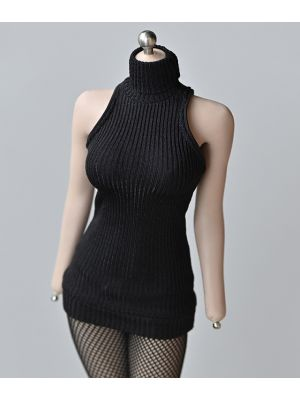 1/6 Scale Female Figure Clothes High Collar Sweater Dress Fit 12'' TBL PH Body