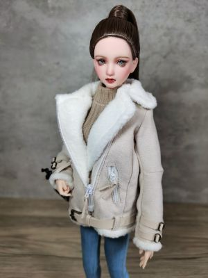 1/6 Scale Female Figure Doll Fashion Winter Wool Coat Jacket for Phicen TBL Body