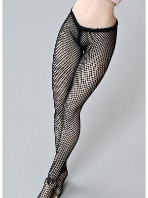 1/6 Scale Seamless Body Female Figure Clothes Sexy Black Fishnet Stockings Tights