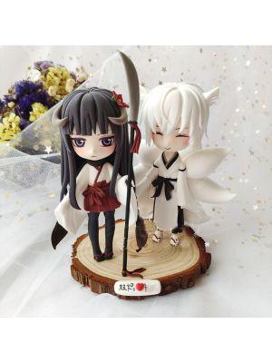 Handmade Inu x Boku SS Ririchiyo Shirakiin Soushi Miketsukami Chibi Figure