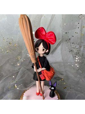 Handmade Kiki's Delivery Service Kiki Chibi Clay Figure