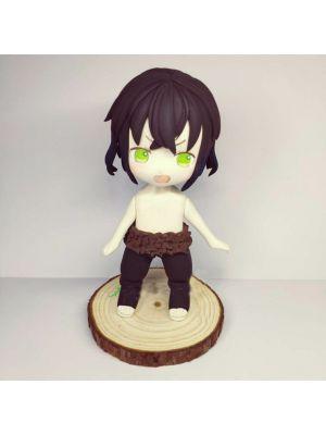 Handmade Kimetsu no Yaiba Inosuke Hashibira Chibi Clay Figure for Sale