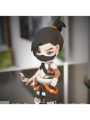 Handmade Overwatch Hanzo Shimada Chibi Clay Figure