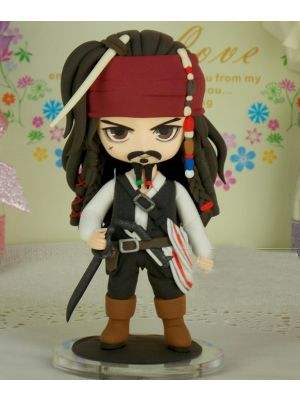 Handmade Pirates of the Caribbean Jack Sparrow Nendoroid Figure for Sale