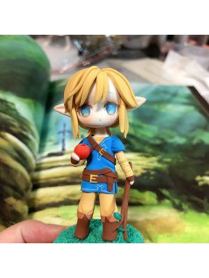 Handmade The Legend of Zelda: Breath of the Wild Link Chibi Clay Figure