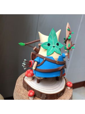 Handmade The Legend of Zelda Hestu x Link Chibi Clay Figure
