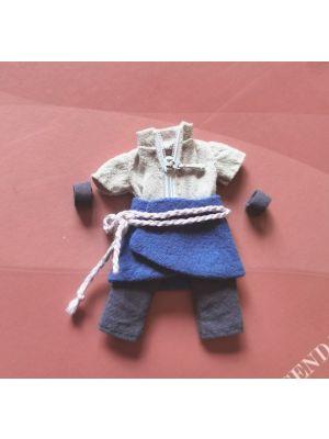 Handmade Uchiha Sasuke Outfit Clothes Set for 1/12 Action Figure GSC OB11