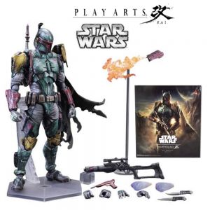Variable Play Arts Kai Star Wars Boba Fett Action Figure Toy for Sale